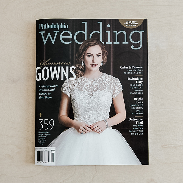 Philadelphia Wedding Magazine, Fall/Winter 2014