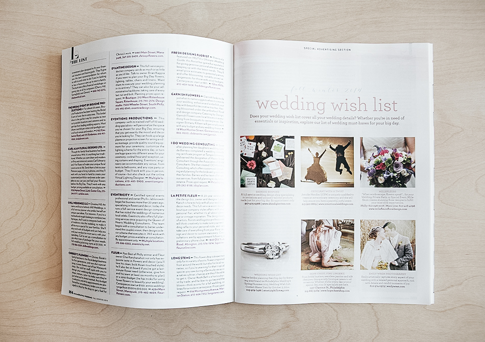 The List | Philadelphia Wedding Magazine