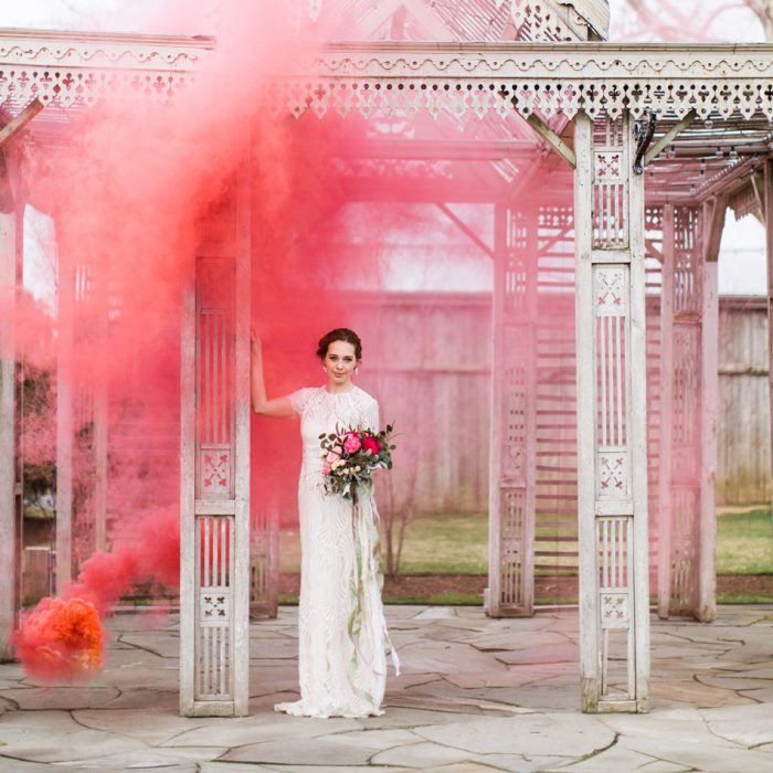 Colored Smoke Styled Shoot | Terrain | Glen Mills, PA