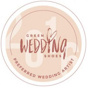 Green Wedding Shoes Feature Badge