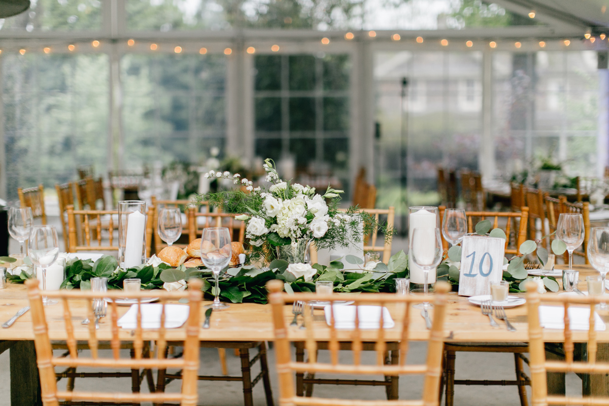wedding reception decor at Antony Wayne House