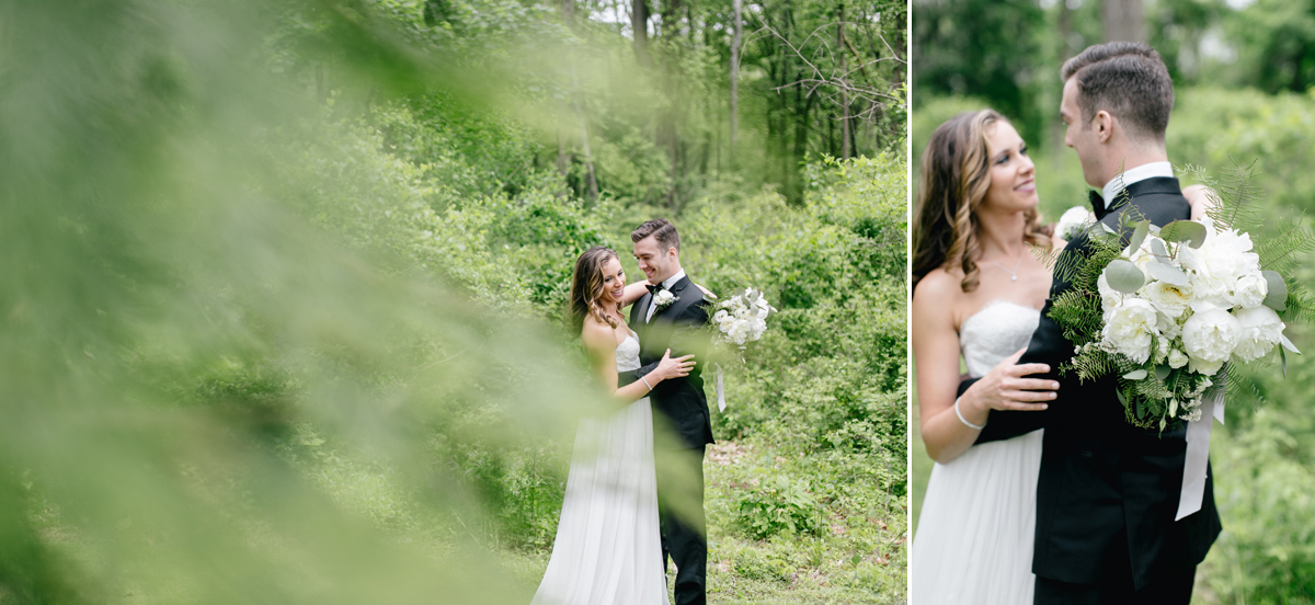Bride & Groom Portraits at Antony Wayne House