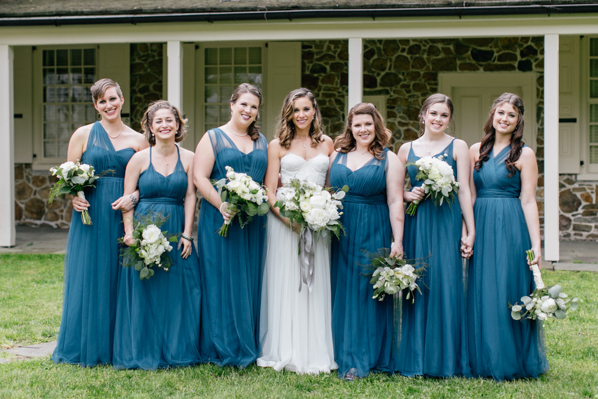 Bridal Party Portraits at Antony Wayne House