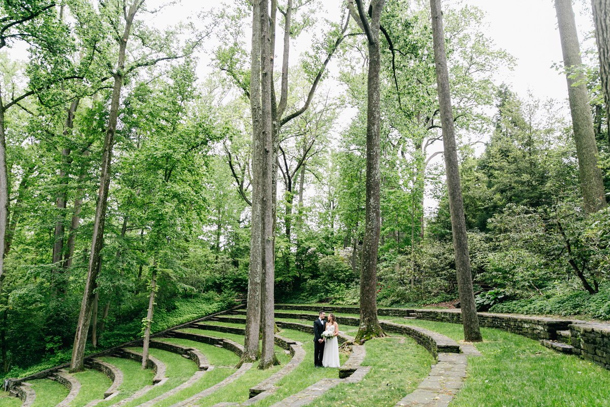 Bride & Groom at Swarthmore College's Amphitheater