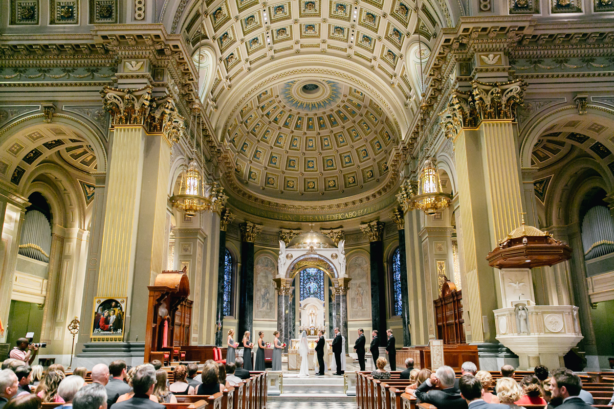 Classic Basilica Downtown Wedding | Philadelphia Wedding Photographer | Emily Wren