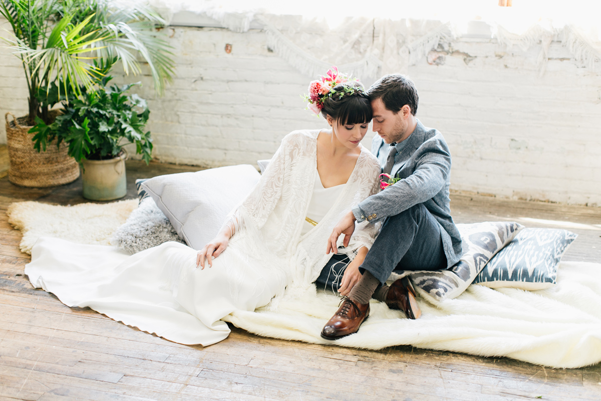 modern bohemian wedding inspiration / Philadelphia Wedding Photographer / Emily Wren