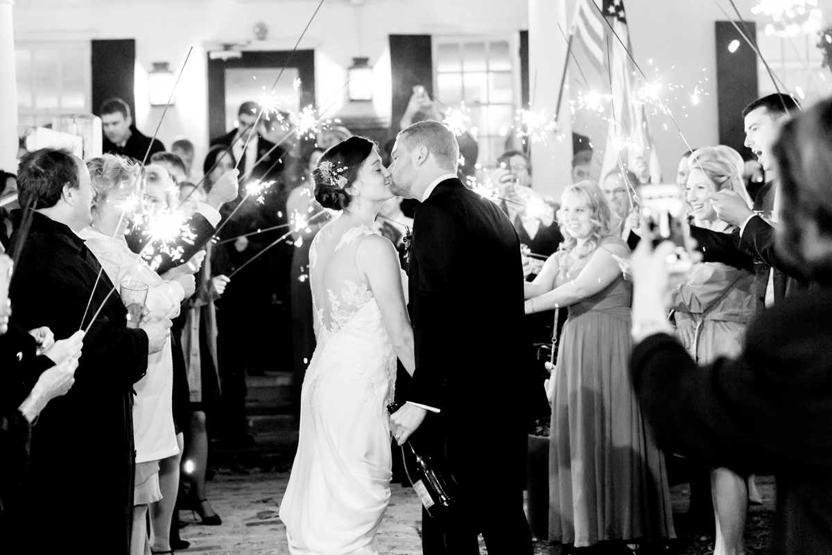 Sparkler Exit | Philadelphia Wedding Photographer | Emily Wren