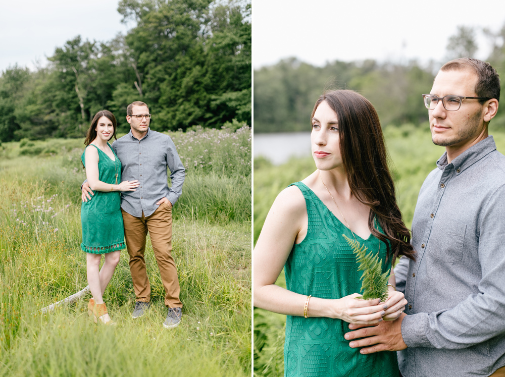 Caitln Adam Woodland Waterfall Engagement Session Rickett's Glen State Park Pennsylvania 11