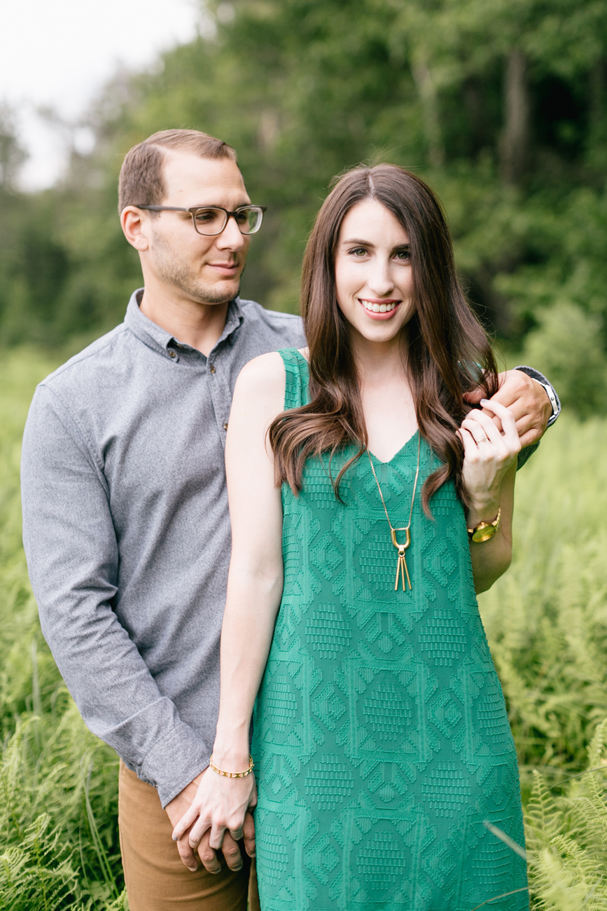 Caitln Adam Woodland Waterfall Engagement Session Rickett's Glen State Park Pennsylvania 12