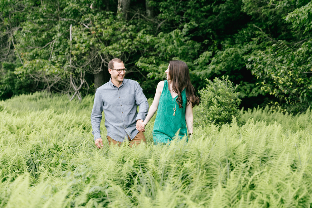 Caitln Adam Woodland Waterfall Engagement Session Rickett's Glen State Park Pennsylvania 13
