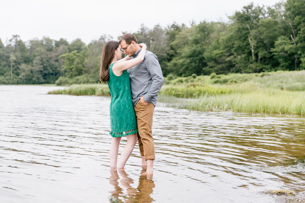 Caitln Adam Woodland Waterfall Engagement Session Rickett's Glen State Park Pennsylvania 19