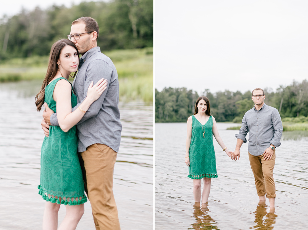 Caitln Adam Woodland Waterfall Engagement Session Rickett's Glen State Park Pennsylvania 23