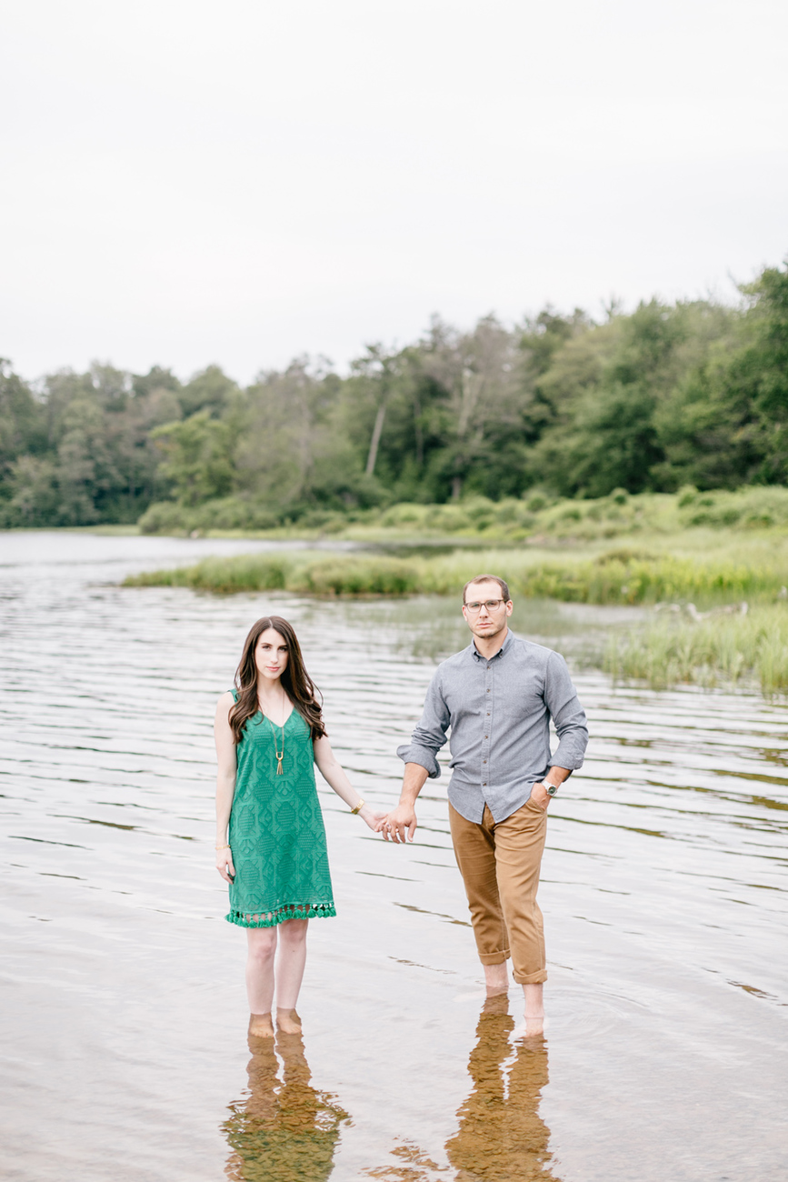 Caitln Adam Woodland Waterfall Engagement Session Rickett's Glen State Park Pennsylvania 24