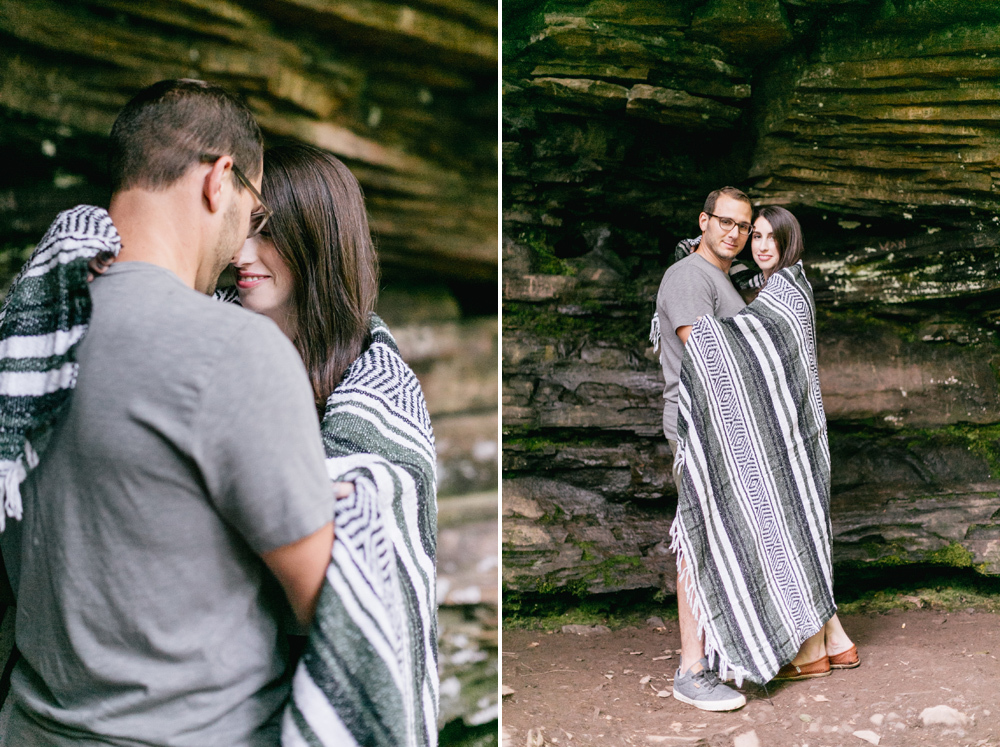 Caitln Adam Woodland Waterfall Engagement Session Rickett's Glen State Park Pennsylvania 39
