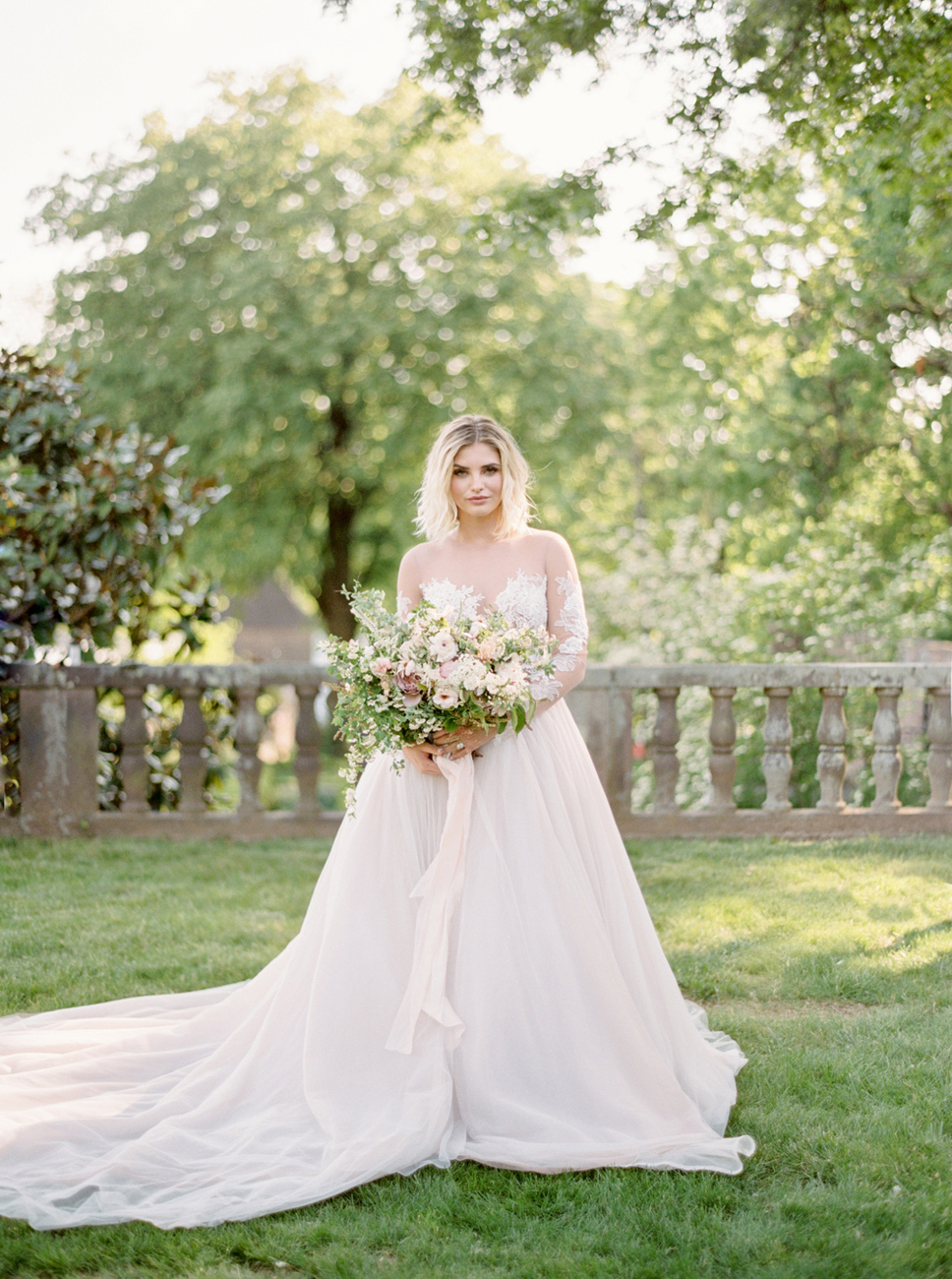 French Formal Garden Wedding Tyler Gardens Romantic Film Wedding Photographer Emily Wren Photography 30