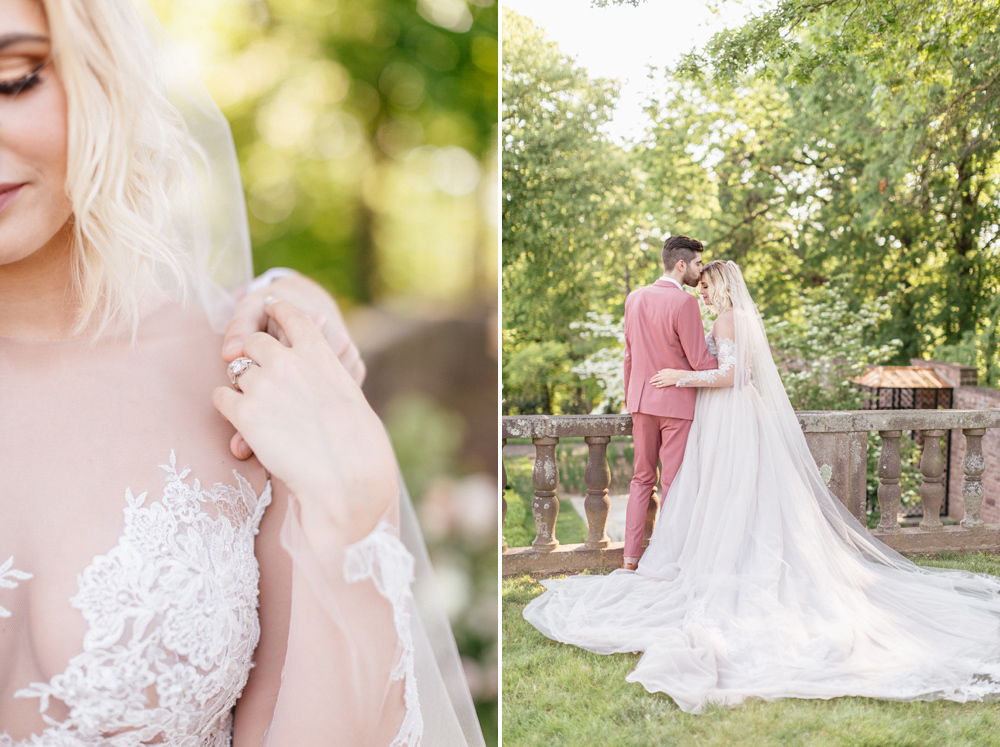 French Formal Garden Wedding Tyler Gardens Romantic Film Wedding Photographer Emily Wren Photography 35