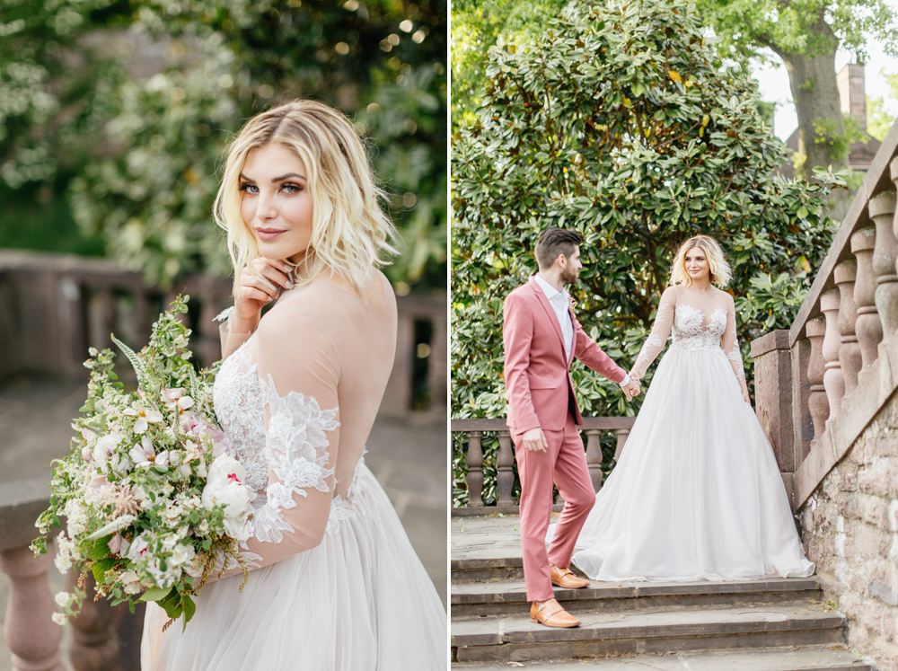 French Formal Garden Wedding Tyler Gardens Romantic Film Wedding Photographer Emily Wren Photography 50