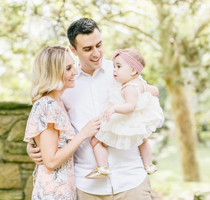 Emma's One Year Session | Parque at Ridley Creek State Park | Family Photography