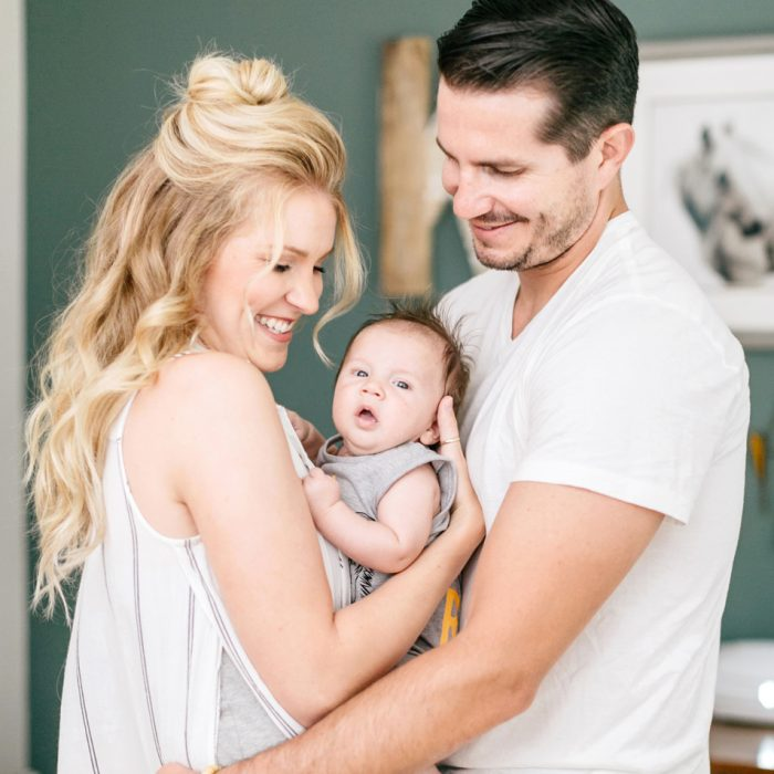 Everette's 1 Month Family Session | Emily Wren Photography