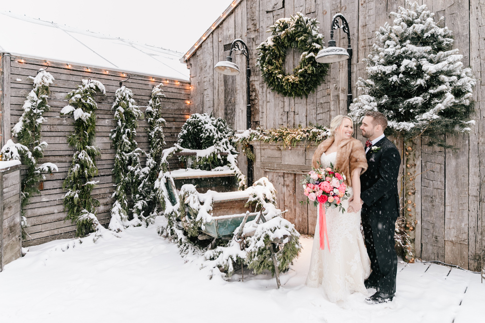 Danielle Chris Snowy Christmas Wedding Terrain Emily Wren Photography 025
