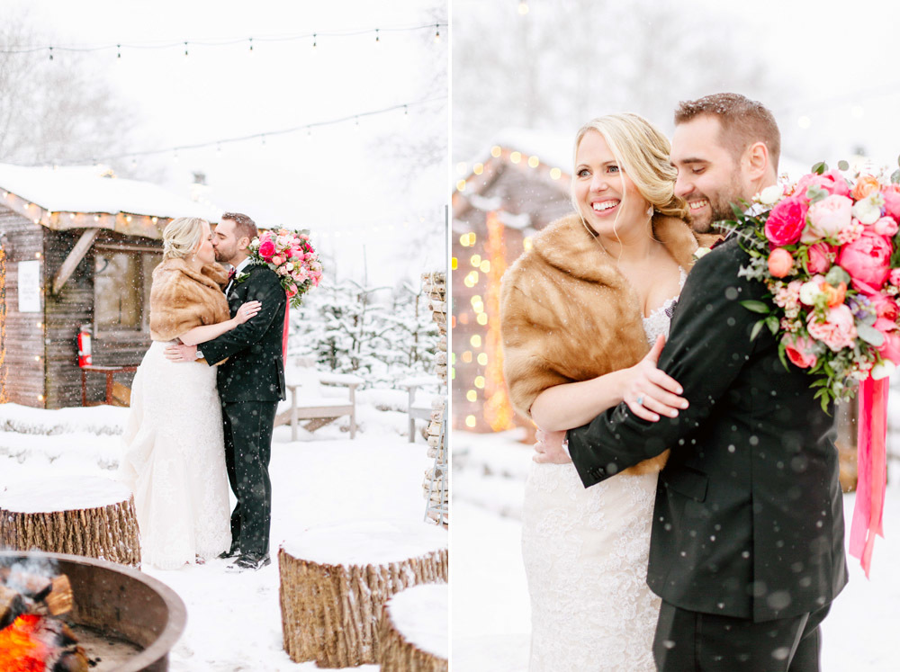 Danielle Chris Snowy Christmas Wedding Terrain Emily Wren Photography 035