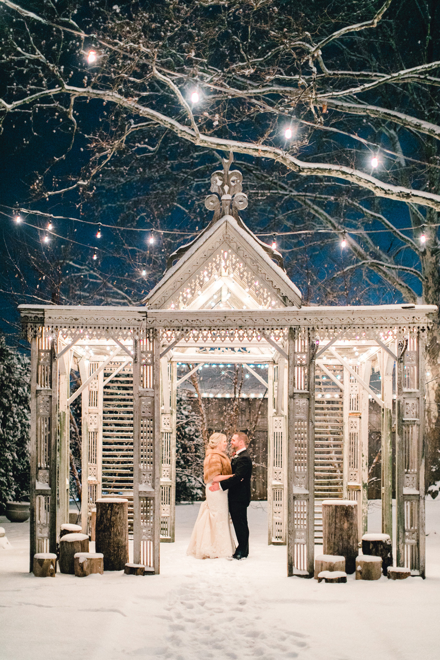 Danielle Chris Snowy Christmas Wedding Terrain Emily Wren Photography 086
