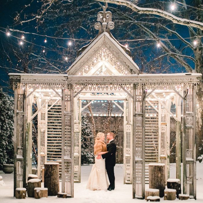 Danielle & Chris | Snowy Christmas Wedding | Terrain, Glen Mills