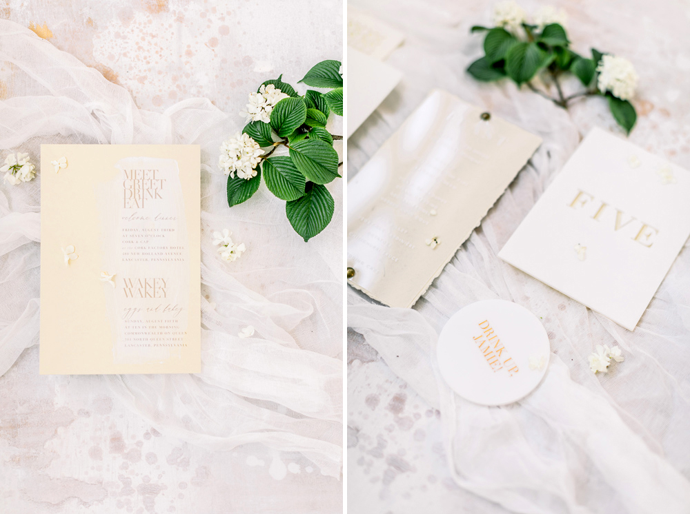 Modern Intimate Monochromatic Wedding Inspiration Emily Wren
