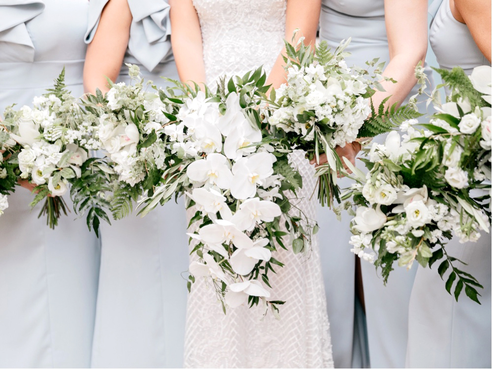 145 All White Wedding Bouquet