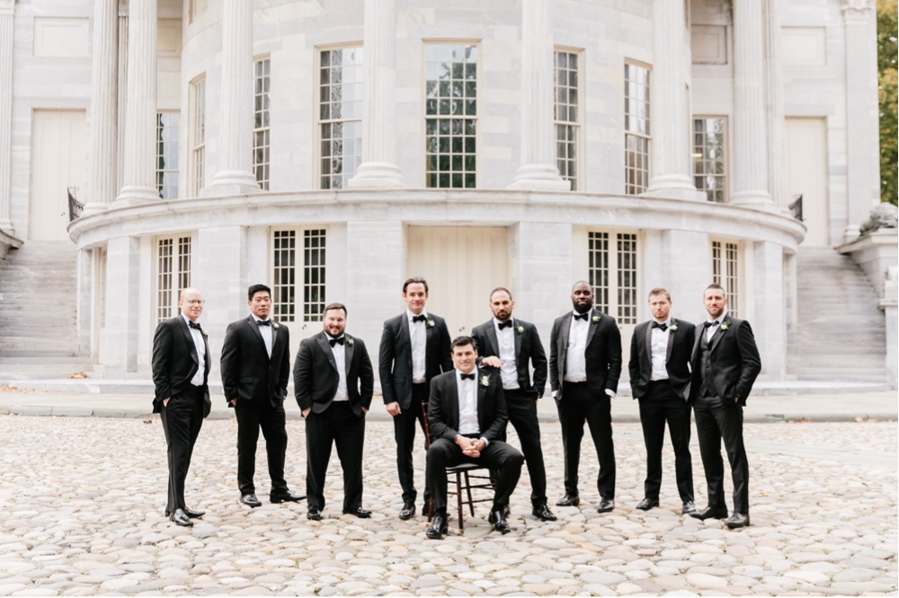 177 Black And White Wedding Black Tuxedo Groom