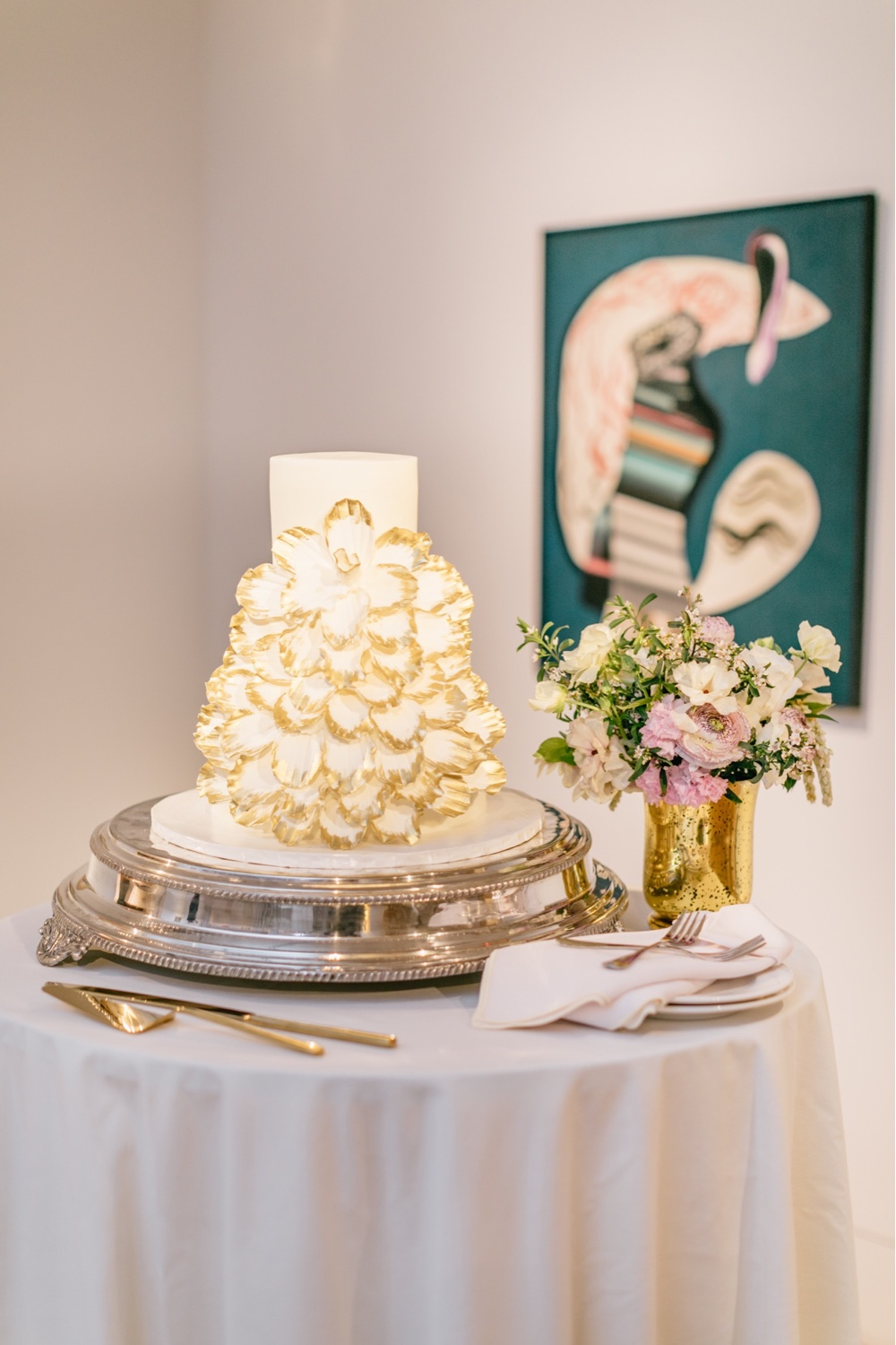 233 Wedding Cake PAFA Chic Elegant Wedding Cake