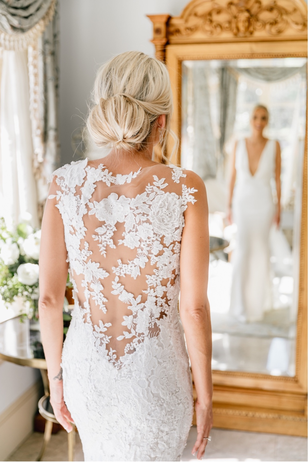 254 The Inn At Barley Sheaf Farm Wedding Elegant Wedding Gown