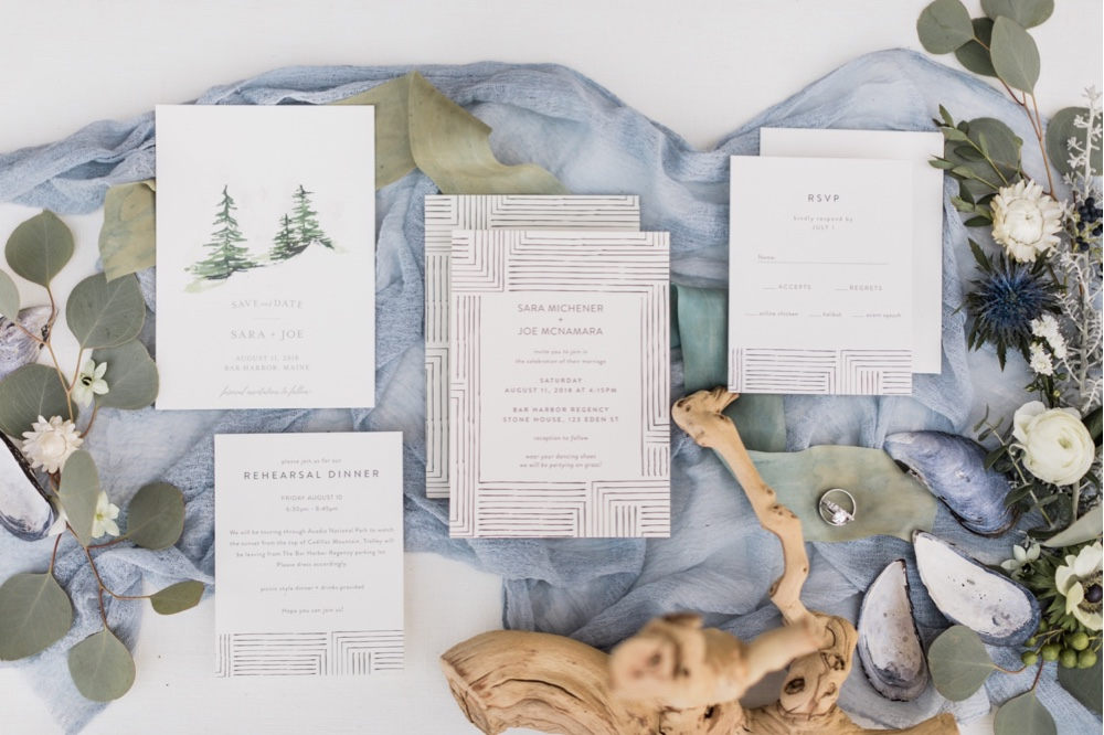 267 Seaside Wedding Wedding Stationary Wedding Invitations