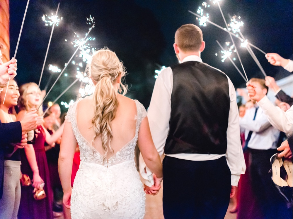 286 Wedding Sparkler Exit New Jersey Photographer New Jersey Wedding Photographer