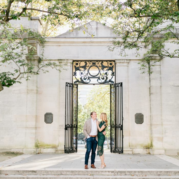 Kathleen & Andrew | A Fall Engagement Session at the Rodin Museum | Emily Wren Photography