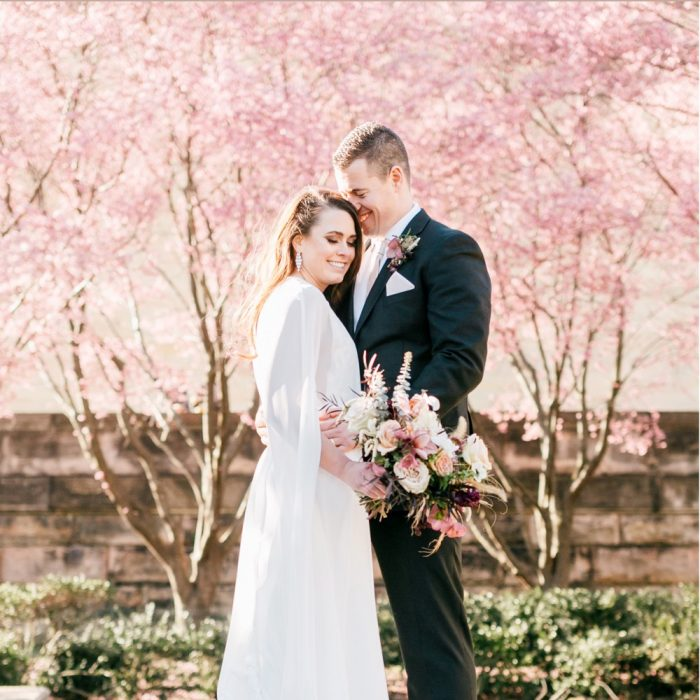 Morgan & John | Cherry Blossom Horticulture Center Wedding | Emily Wren Photography